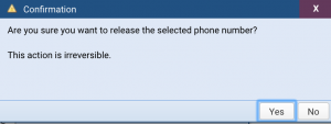 Screenshot: Confirmation Dialog